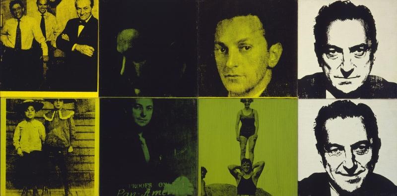 Andy Warhol Sidney Janisin Yedi Ceddi Klasik Sanat Kanvas Tablo