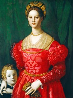 Angolo Bronzino Genç Bir Kadın ve Çocuğu Yağlı Boya Sanat Kanvas Tablo