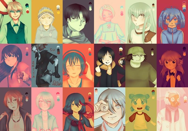 Anime Karakterler Bebek & Çocuk Dünyası Kanvas Tablo