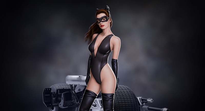 Anne Hathaway Kedi Kadın Batman Sinema Kanvas Tablo