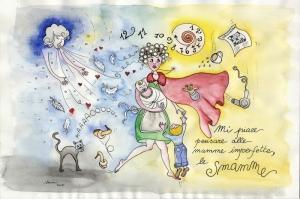 Anne Sevgisi, Koşuşturması Modern Sanat Kanvas Tablo