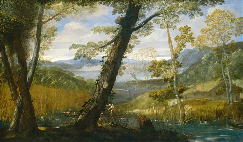 Annibale Carracci River Landscape Yağlı Boya Sanat Kanvas Tablo