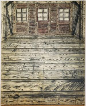 Anselm Kiefer Ahşap Oda Klasik Sanat Kanvas Tablo