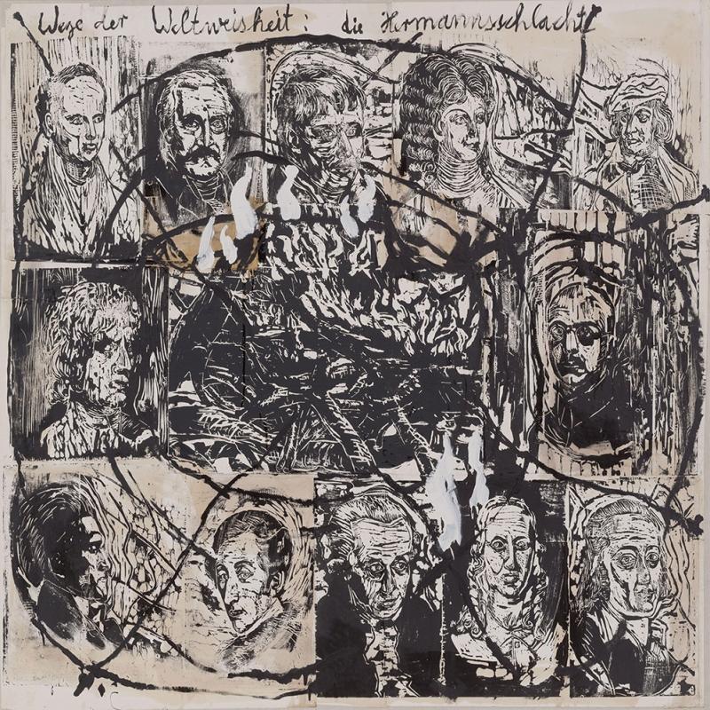 Anselm  Kiefer  Billgeliğin  Yolu  Arminius  Savaşı  Klasik  Sanat  Kanvas  Tablo