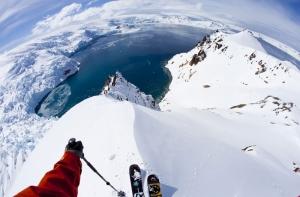 Antartika Buzul Dağı 2 Zirvede Kayak HD Doğa Manzaraları Kanvas Tablo