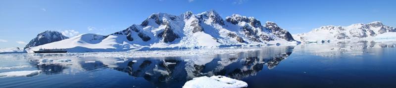 Antartika Kutuplar Puzulpanaroma Panaromik Manzara Kanvas Tablo