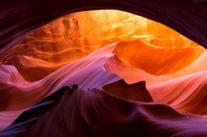 Antelope Kanyon Arizona Usa 1 HD Doğa Manzaraları Kanvas Tablo