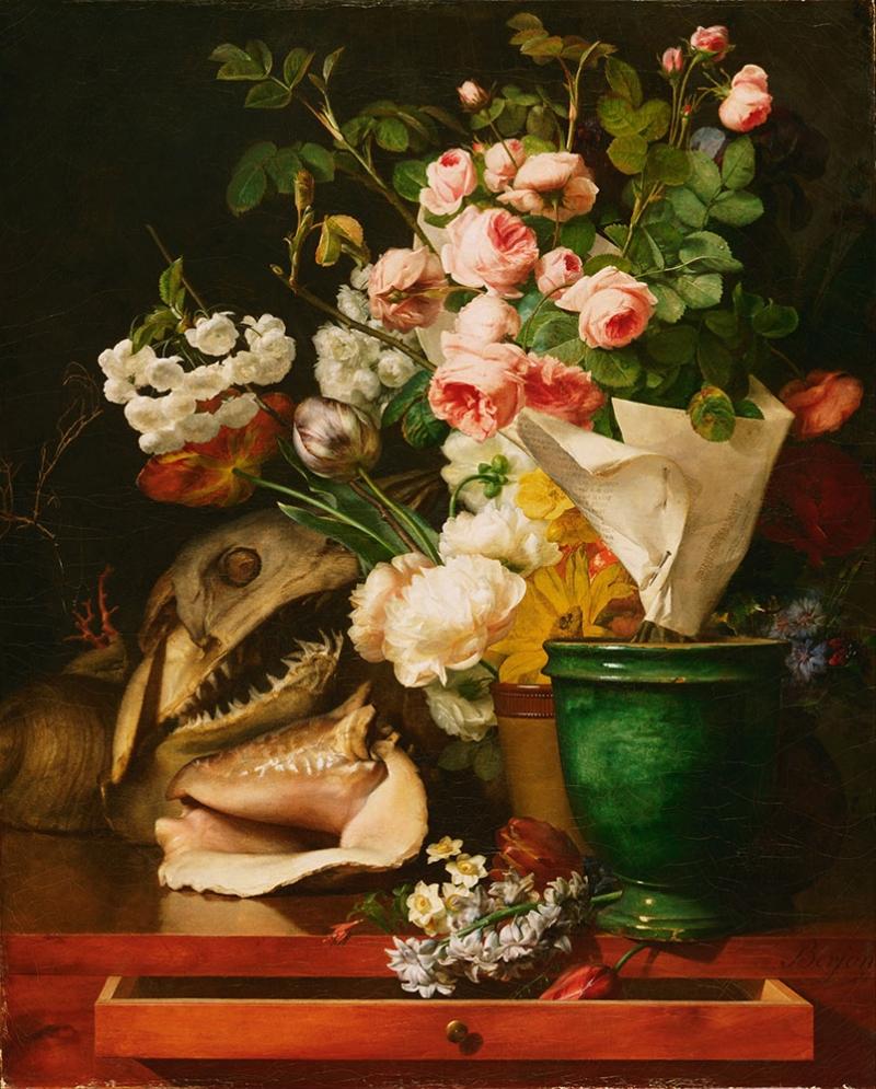 Antoine Berjon Vazo İçinde Çiçekler Klasik Sanat Kanvas Tablo