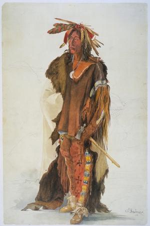Apaçi Savasçısı Etnik Kıyafet Temalı Kanvas Tablo