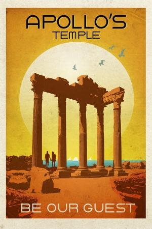 Apollon Tapinağı Şehirler Kanvas Tablo