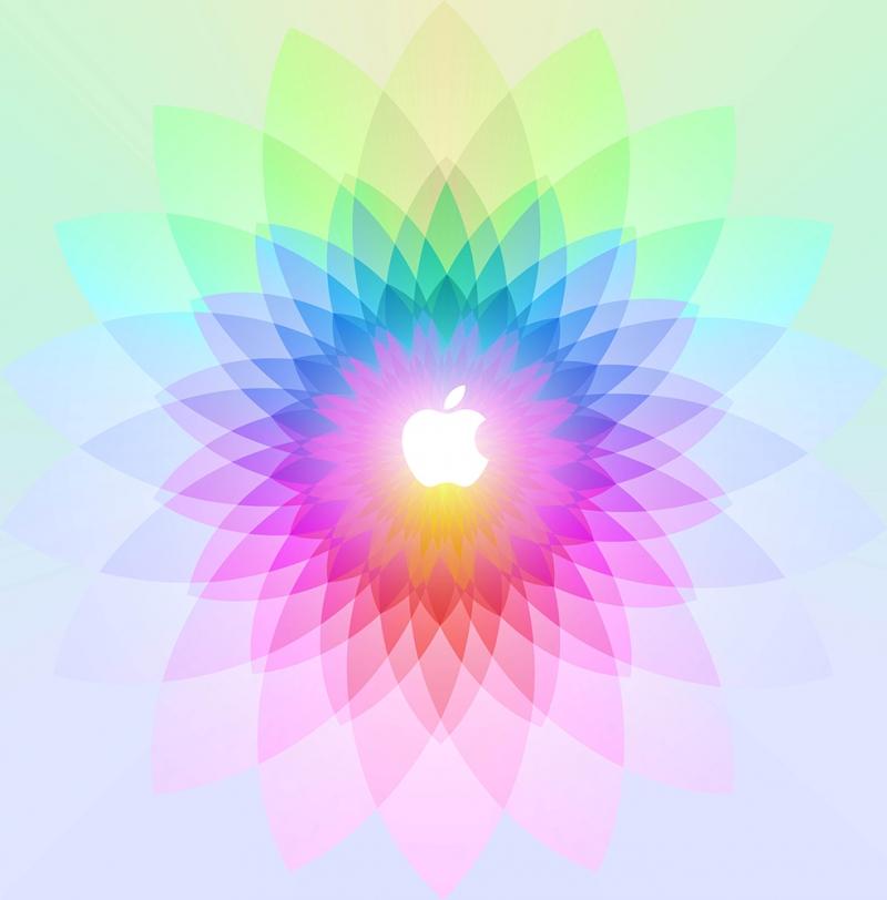 Apple Renkler Dijital ve Fantastik Kanvas Tablo