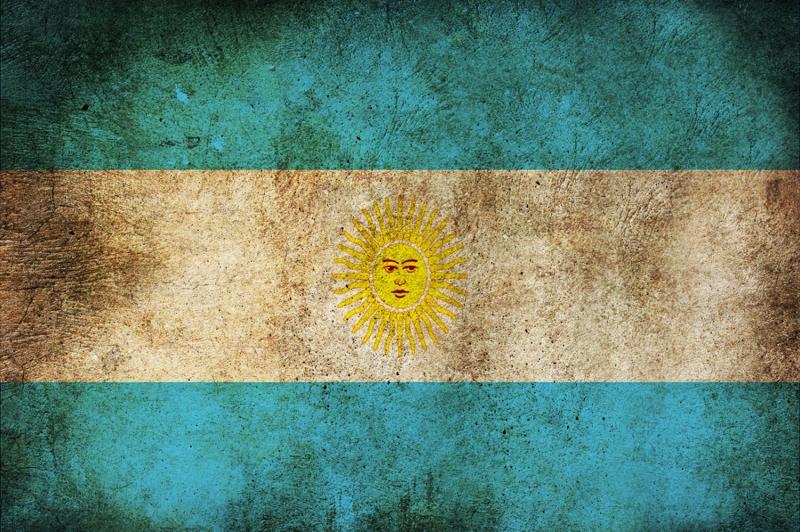 Arjantin Bayrağı, Eskitilmiş Retro Arjantin Bayrağı Kanvas Tablo