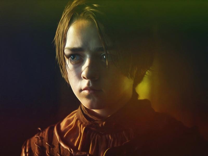 Arya Stark Game Of Thrones Kanvas Tablo