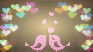 Aşık Kuşlar Aşk & Sevgi Kanvas Tablo
