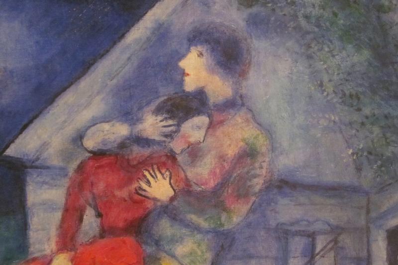 Aşıklar Marc Chagall Lovers Klasik Sanat Kanvas Tablo