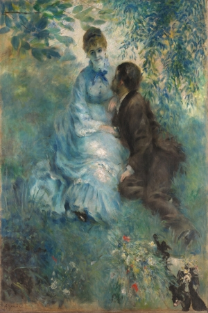 Aşıklar, Pierre August Renoir, Lovers Klasik Sanat Kanvas Tablo