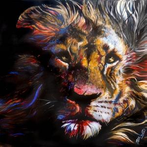Asil Kral Aslan Modern Sanat Kanvas Tablo