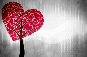 Aşk Ağacı Aşk & Sevgi Kanvas Tablo