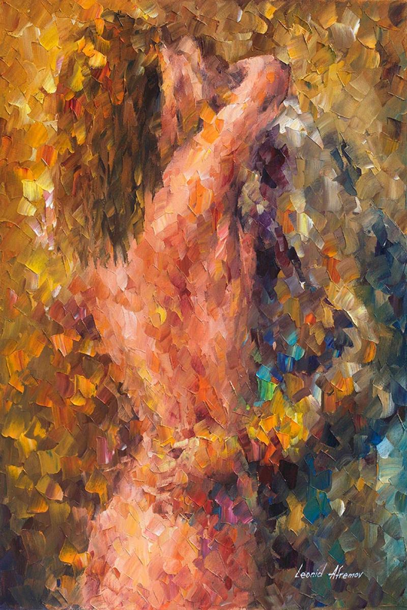 Aşk, Akşam Işıkları Şehir Manzaraları Afremov 3 Dekoratif Sanat Kanvas Tablo