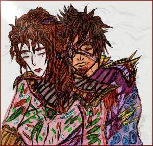 Aşk Japon Sanatı Yağlı Boya Sanat Kanvas Tablo