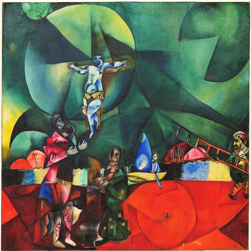 Aşk Savaş Ve Sürgün Marc Chagall Love War And Exile Klasik Sanat Kanvas Tablo