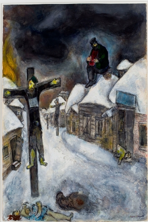 Aşk  Savaşı Ve Sürgün Marc Chagall Love War And Exile Reproduksiyon Sanat Kanvas Tablo