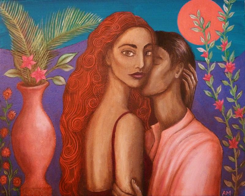 Aşk Yağlı Boya Sanat Kanvas Tablo