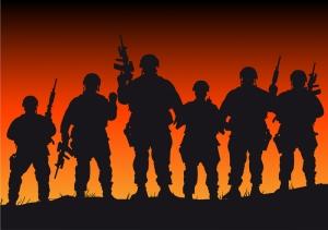 Asker Savaşın Etkileri Askeri Kanvas Tablo