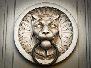 Aslan Desenli Kapı Tokmağı Fotoğraf Kanvas Tablo