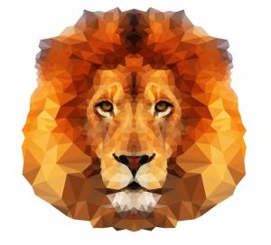Aslan Kafası İllustrasyon Hayvanlar Kanvas Tablo