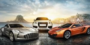Aston Martin Audi Mc Laren Otomobil Araçlar Kanvas Tablo