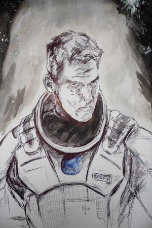 Astronot Klasik Sanat Kanvas Tablo