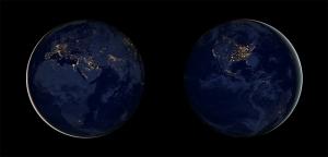 Asya Avrupa Işıklar Dünya Kanvas Tablo