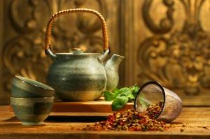 Asya Çayı Lezzetler Kanvas Tablo