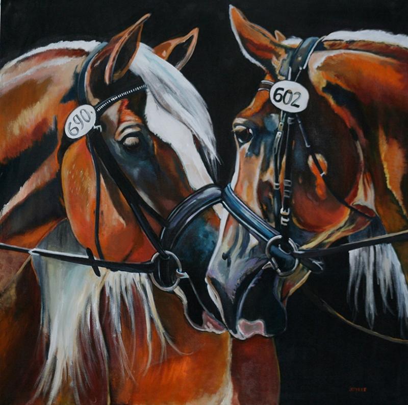 At Resmi Yağlı Boya Sanat Kanvas Tablo