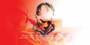 Atatürk Benim Naciz Vücudum Atatürk Unique Kanvas Tablo