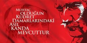 Atatürk Muhtaç Olduğun Kudret Atatürk Unique Kanvas Tablo