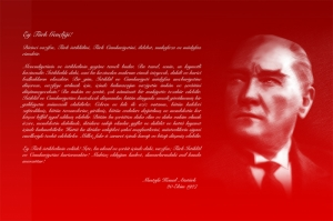 Atatürk\'ün Gençliğe Hitabesi Atatürk Unique Kanvas Tablo 2