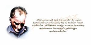 Atatürk ve Milli Egemenlik Atatürk Concept Kanvas Tablo