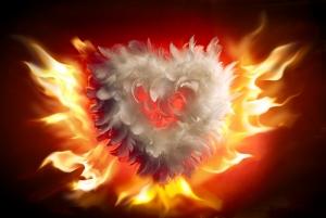Ateş ve Aşk Aşk & Sevgi Kanvas Tablo