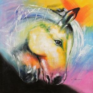 Atlar 1, Hayvanlar Alemi Dekoratif Kanvas Tablo