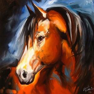 Atlar 10 Yağlı Boya Sanat Kanvas Tablo