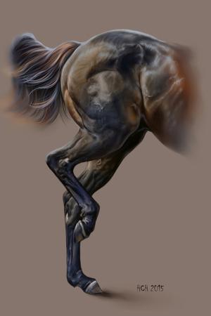 Atlar-12 Klasik Sanat Kanvas Tablo
