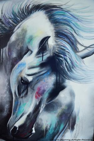 Atlar-156, Hayvanlar Modern Sanat Kanvas Tablo