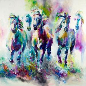 Atlar-24 Klasik Sanat Kanvas Tablo