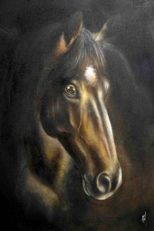 Atlar 3 Yağlı Boya Sanat Kanvas Tablo