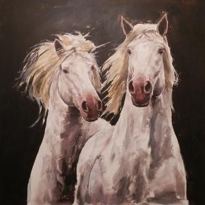 Atlar-40 Klasik Sanat Kanvas Tablo