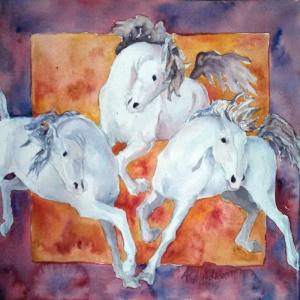 Atlar-43 Klasik Sanat Kanvas Tablo