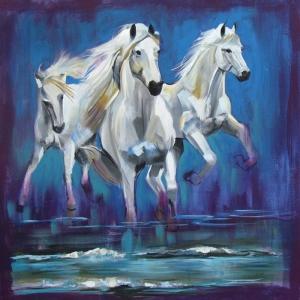 Atlar-45 Klasik Sanat Kanvas Tablo