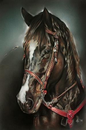 Atlar-51 Klasik Sanat Kanvas Tablo